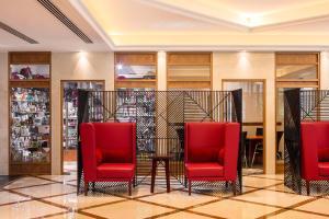 منطقة الاستقبال أو اللوبي في فندق كورال دبي ديرة