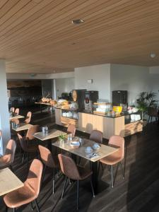 Een restaurant of ander eetgelegenheid bij Budget Hotel Vrouwenpolder
