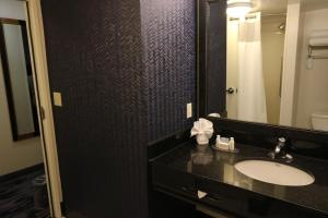 A bathroom at Fairfield Inn & Suites by Marriott San Antonio Downtown/Alamo Plaza
