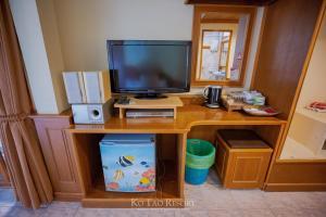 تلفاز و/أو أجهزة ترفيهية في Ko Tao Resort - Beach Zone