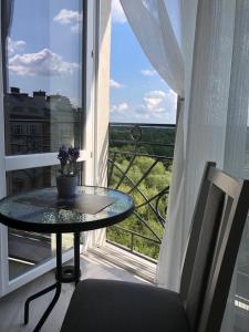 A balcony or terrace at Апартаменты Новые