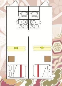 The floor plan of Osaka City Hotel