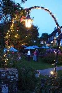 A garden outside The Greyhound Inn and Hotel