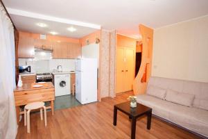 A kitchen or kitchenette at Serviced Apartments Krasnopresnenskaya