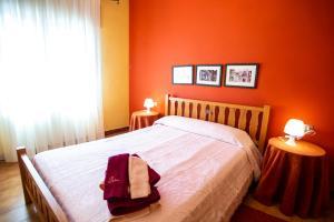 Cama o camas de una habitación en Rural Morella Masoveret