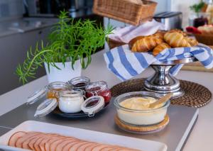 Breakfast options available to guests at STF Gärdet Hotel & Hostel