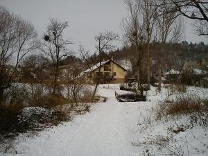 Erdőalja Vendégház during the winter