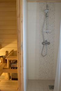 Vannituba majutusasutuses LiisuPesa Apartment with Sauna and Garden