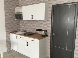A kitchen or kitchenette at Urban Kyiv APT * Appartement Confortable