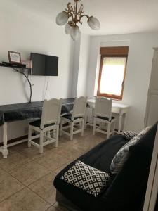 A seating area at Apartamentos los Balcones