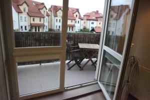 Ein Balkon oder eine Terrasse in der Unterkunft Apartament-Studio