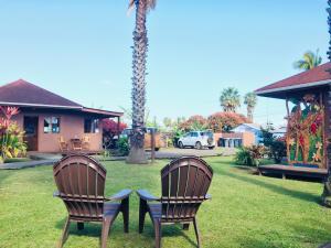 A garden outside Marae - Cabañas Premium