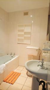 A bathroom at Hippo Lodge Apartments