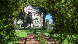 A garden outside Grand Hotel Rimini