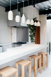 A kitchen or kitchenette at Casa Pancha
