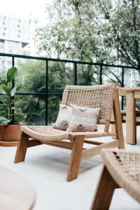 A balcony or terrace at Casa Pancha