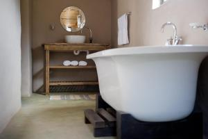 A bathroom at African Game Lodge