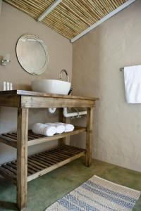 A bunk bed or bunk beds in a room at African Game Lodge