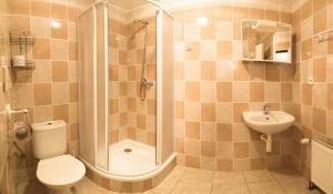Koupelna v ubytování Penzion V Údolí