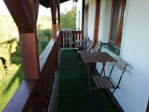 Balkón alebo terasa v ubytovaní Apartmán Hořice na Šumavě