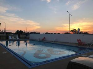 The swimming pool at or near Route 66 Hotel, Springfield, Illinois