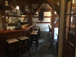 Lounge oder Bar in der Unterkunft Altstadtpension Zirndorf