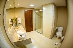 A bathroom at Haras Morena Resort