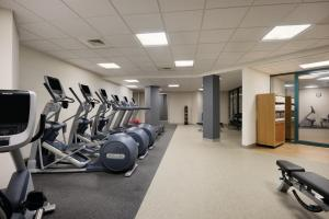 The fitness center and/or fitness facilities at Hilton Long Island/Huntington