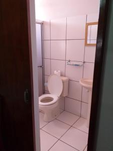 A bathroom at Hotel Brasil