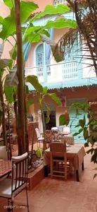 Restaurant ou autre lieu de restauration dans l'établissement Riad Dar Mchicha