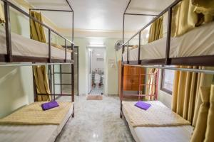 A bunk bed or bunk beds in a room at Linh's Homestay