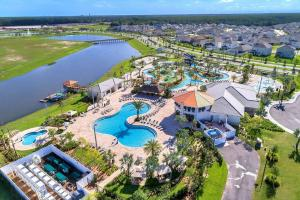 A bird's-eye view of I - New 4 Bedroom Home - 5 Miles to Disney - Free Water Park - Private Pool