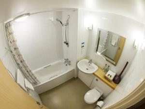 A bathroom at The Worlds End