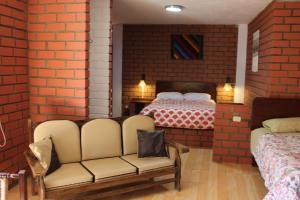 "A bed or beds in a room at Casa Hospedaje""Los Capulies"""