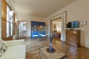 Zona de estar de Palazzo Uguccioni Apartments