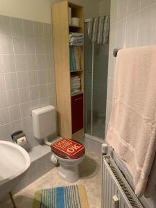 Ein Badezimmer in der Unterkunft Landhaus Bucheneck