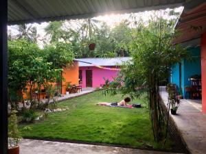 A garden outside Lana Land Homestay Phu Quoc