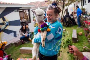 Children staying at Selina Saphi Cusco