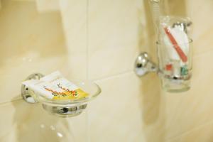 Ванная комната в Гостиница & Хостел Клевер