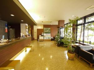 The lobby or reception area at Hotel Route-Inn Myoko Arai