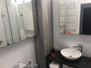 Koupelna v ubytování Apartament Winorośli