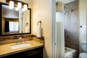 A bathroom at Days Inn by Wyndham Monterey Downtown