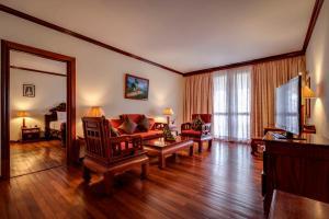 A seating area at Angkor Paradise Hotel