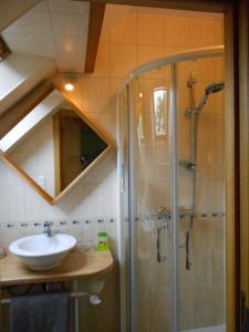 A bathroom at Ferme de la Blanche Fontaine