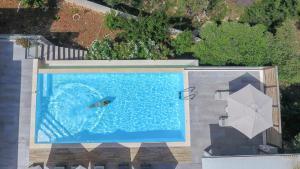 Θέα της πισίνας από το Drimonari Villas ή από εκεί κοντά