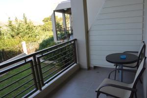A balcony or terrace at Porto Plaza Hotel