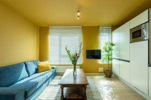 A seating area at The India Yellow Studio