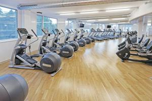 The fitness center and/or fitness facilities at Continental Hotel Lausanne