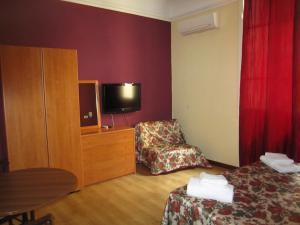 A television and/or entertainment center at Hotel Genzianella