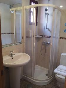 Ванная комната в Hostal Juan XXIII